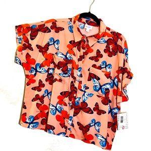 LuLaRoe Amy Dolman Sleeve Blouse—Size S—NWT